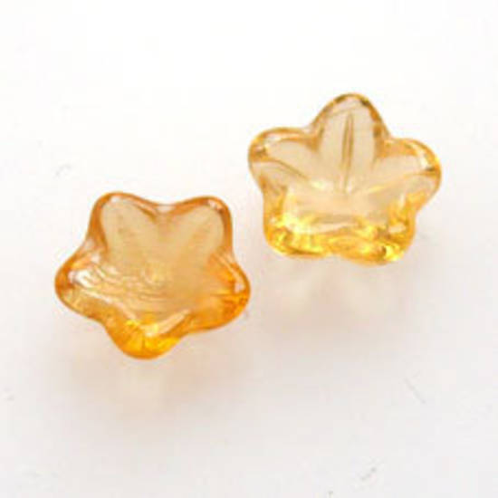 NEW! Cupped Flower, 10mm -  Lighter Amber