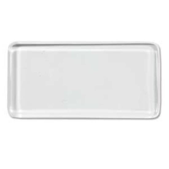 Glass Tile (Cabochon),  square edged rectangle - 24 x 48mm