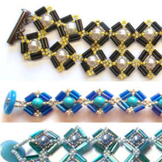 Project: Mosaic Bracelet, Bugle Bead version