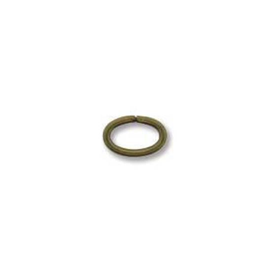 NEW! OVAL Jumpring: Brass 4 x 6mm