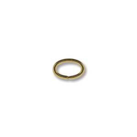 NEW! OVAL Jumpring: Gold 4 x 6mm