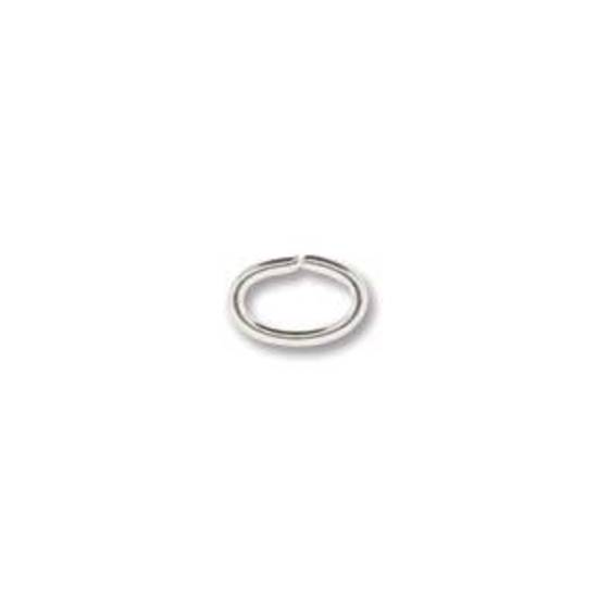 NEW! OVAL Jumpring:  Silver 4 x 6mm