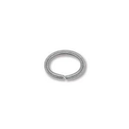 NEW! OVAL Jumpring: Antique Silver 6 x 8mm
