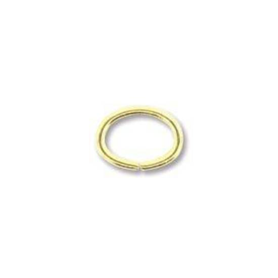 NEW! OVAL Jumpring: Gold 6 x 8mm