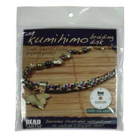 """Kumihino Disc, round 6"""" with instructions."""
