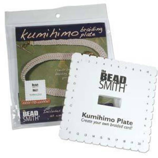 Kumihino Disc, square plate with instructions.