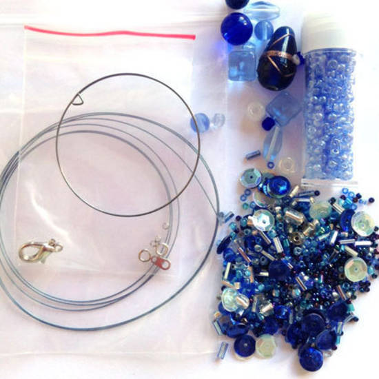 Youth Bead and Finding Pack: Ocean Blues