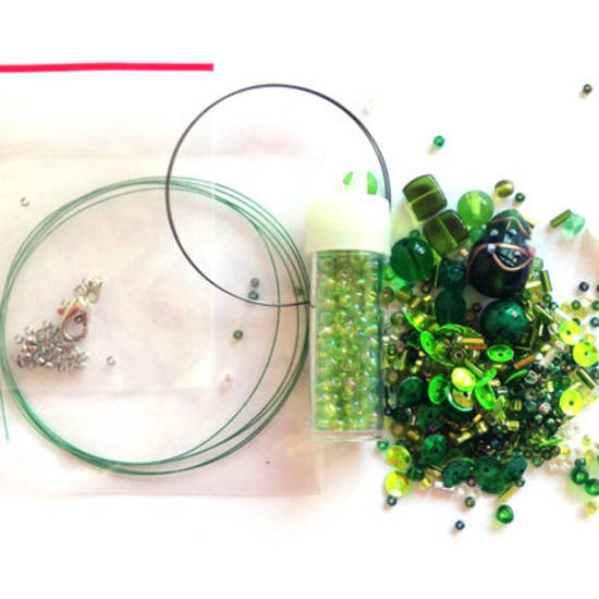 Youth Bead and Finding Pack: Greens