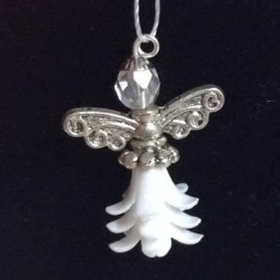 KITSET: Christmas Angel - White Acrylic skirt