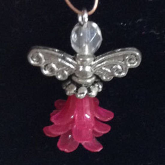 KITSET: Christmas Angel - Pink Acrylic skirt