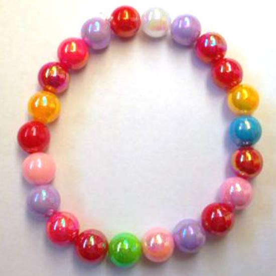 CLEARANCE KITSET: Kids stretch bracelet, multi-coloured