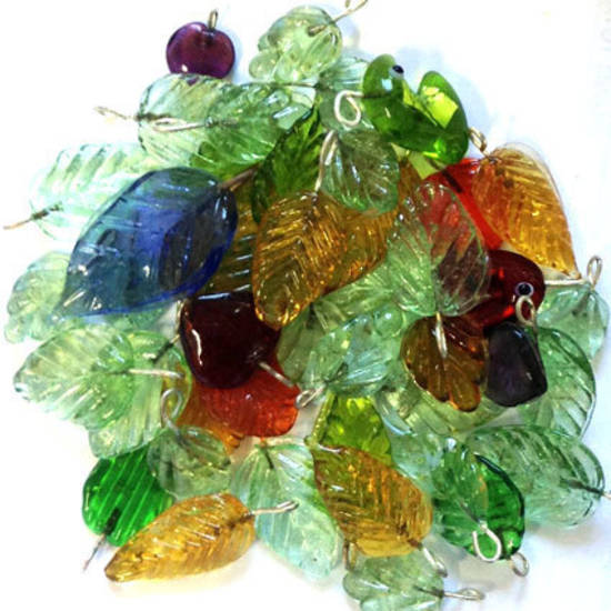 Indian Lampwork Mix 15: Leaves