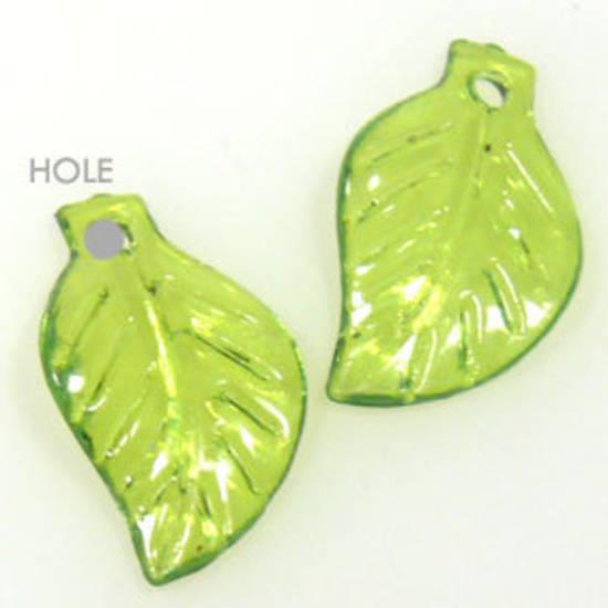 Acrylic Leaf, 12mm x 20mm - Transparent Green
