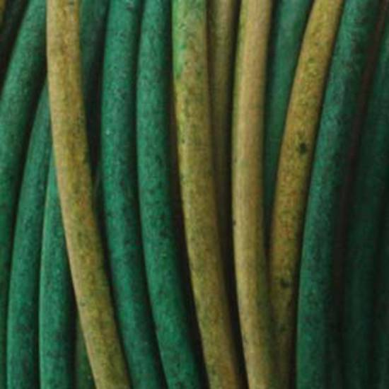 1mm leather cord: Varigated green/earth