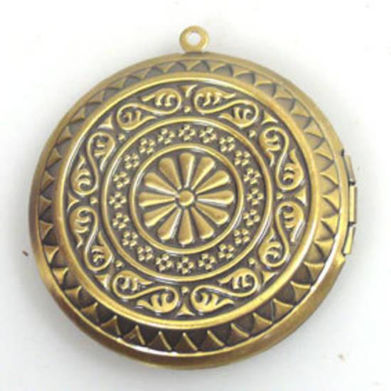 Large brass coloured medallion locket