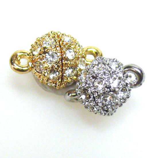 Magnetic Clasp, small, set with diamantes