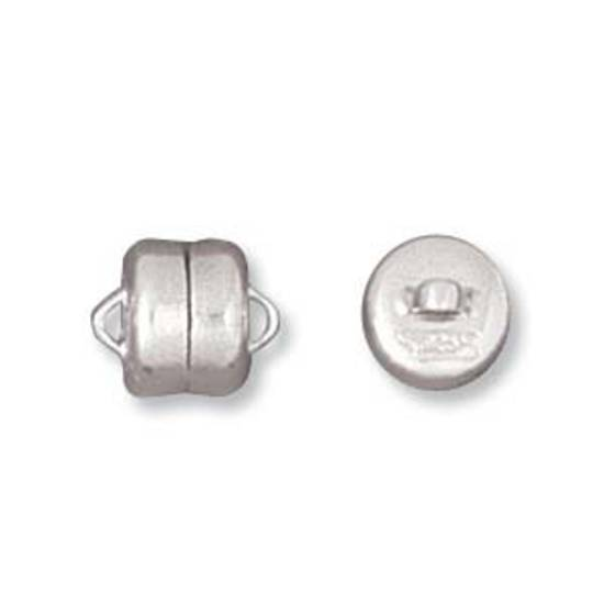 Sterling SIlver Magnetic Clasp: plain - 6 x 8mm