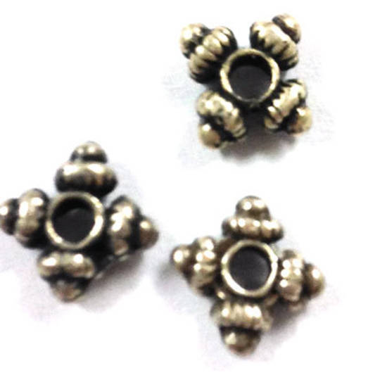 Metal Spacer: 8mm, 4 pointed - antique silver