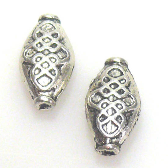 Metal Bead, celtic oval