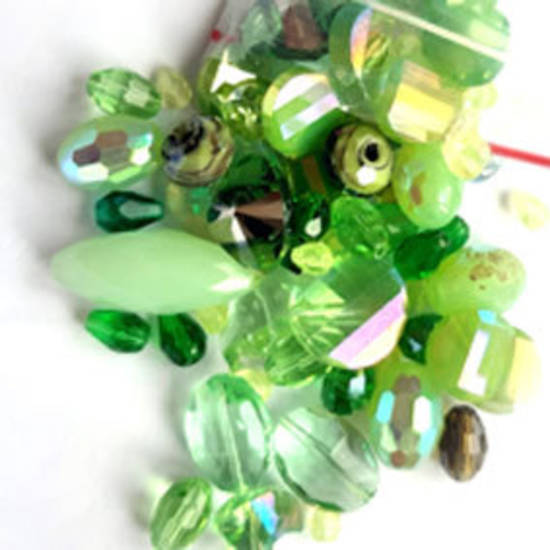 NEW! Premium Glass Facet Mix: Greens