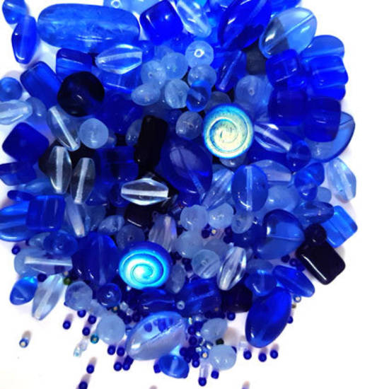 NEW! Pressed Bead Mix - Blued