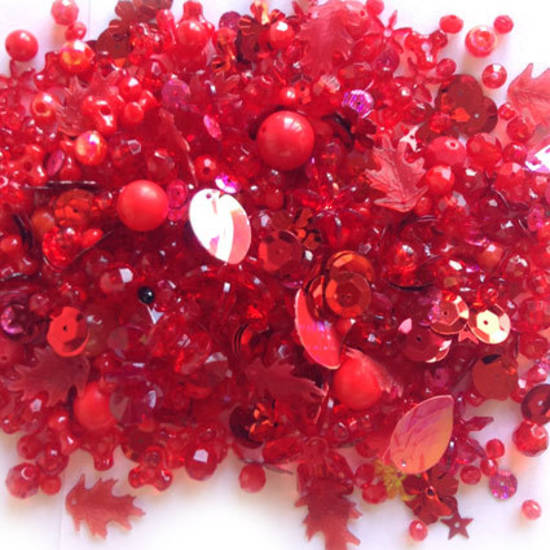 Large Acrylic Mix: Red