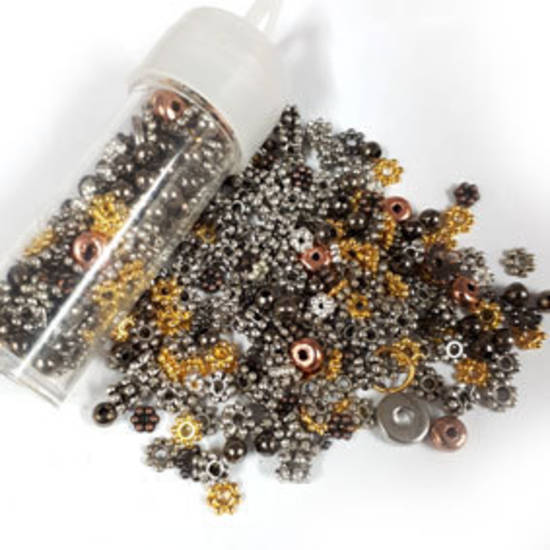 NEW! Metal Spacer Mix - mixed colours