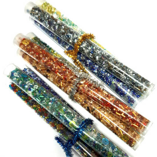CLEARANCE: Lucky Dip Seed Bead Mix - 3 tall tubes
