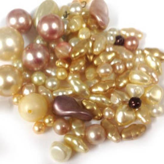 Glass Pearl Mix: Golden Peach