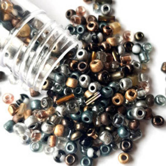 NEW! Vivi's Seed Bead Mix, 15gm - Miner