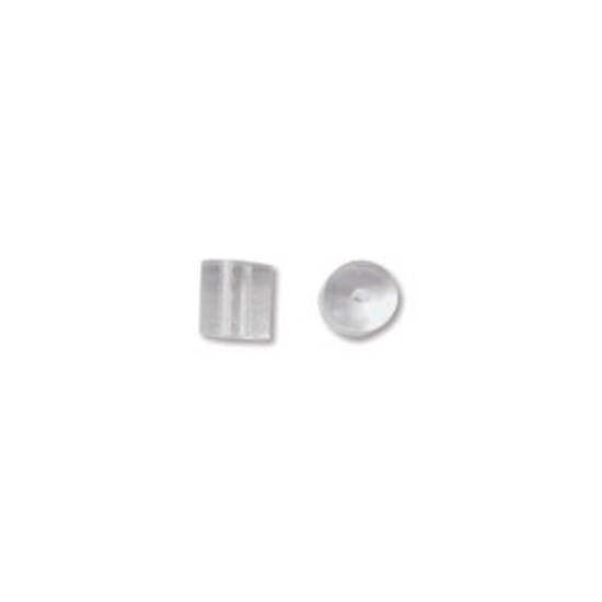 NEW! Plastic Earring Clutch, basic: 3 x 3.3mm