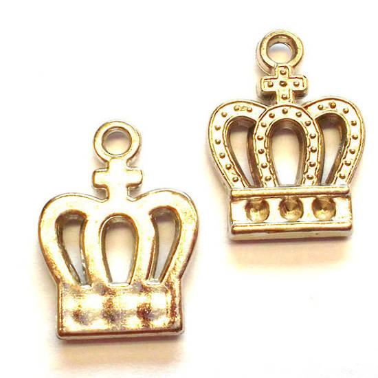 Acrylic Charm: Crown - silver