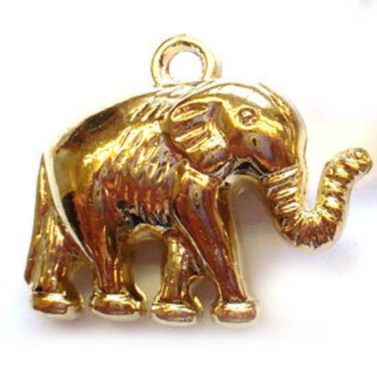 Acrylic Charm: Elephant - gold