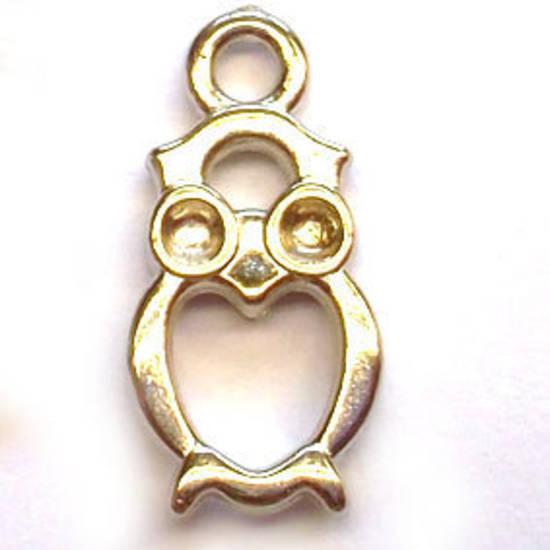 Acrylic Charm: Owl - silver