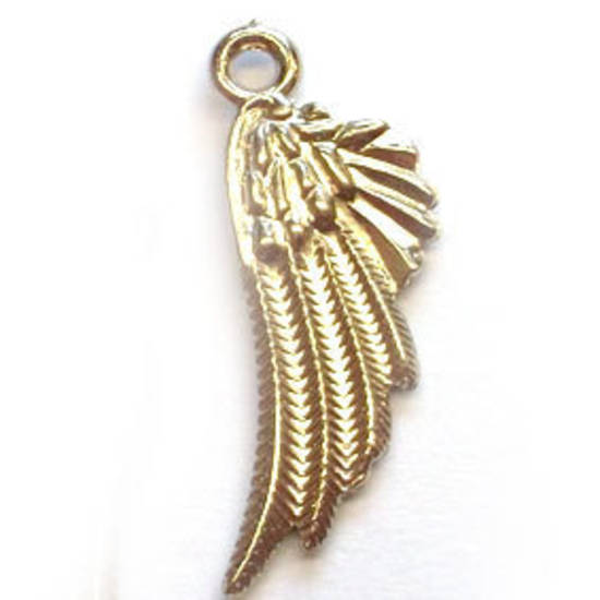 Acrylic Charm: Wing - silver