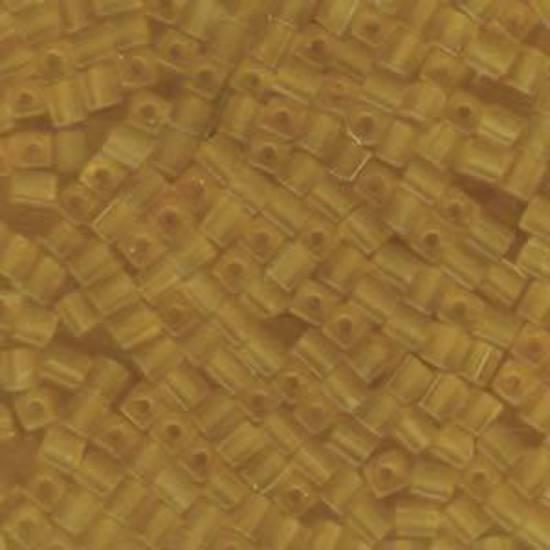 4mm Miyuki Square: 132F - Frosted Tan