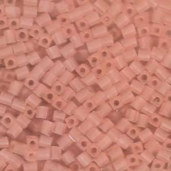 4mm Miyuki Square: 155F - Light Tea Rose, matte transparent