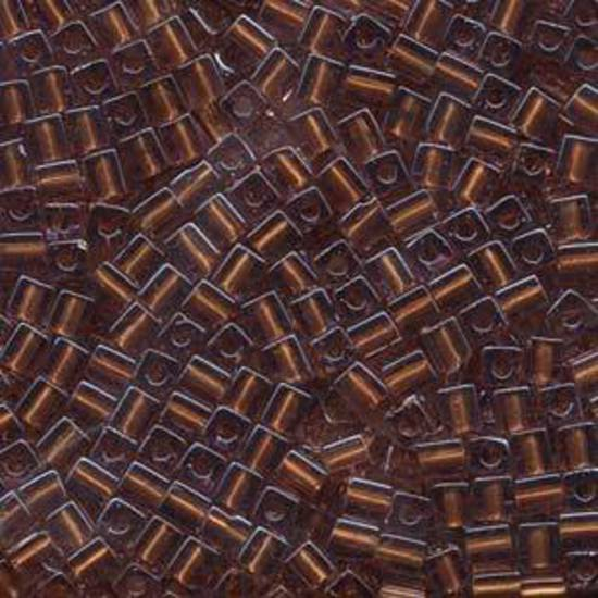 4mm Miyuki Square: 2646 - Amber/Gold , colour lined