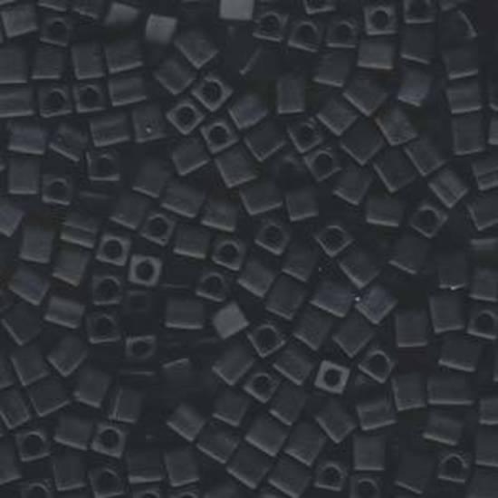 4mm Miyuki Square: 401F - Matte Black