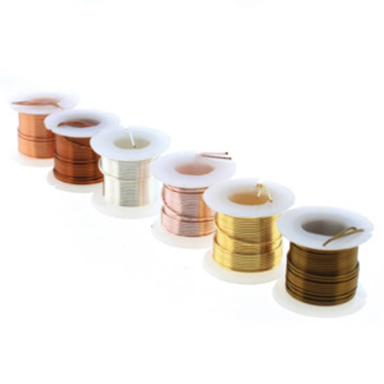 Beadsmith Craft Wire 22 gauge: 6 x mini spools - assorted colours