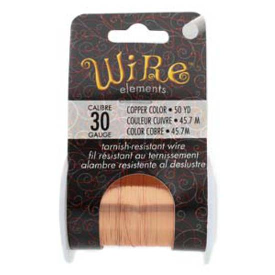 NEW! Beadsmith Craft Wire, Copper Colour: 30 gauge