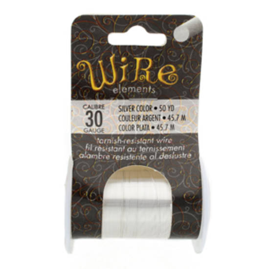 NEW! Beadsmith Craft Wire, Silver Colour: 30 gauge