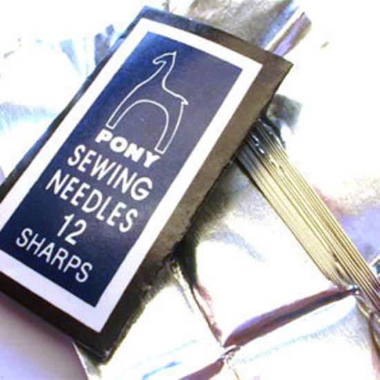 Pony Beading Needles, 25 pack, short: Size 12