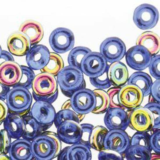 Czech O Bead - Sapphire Vitrail