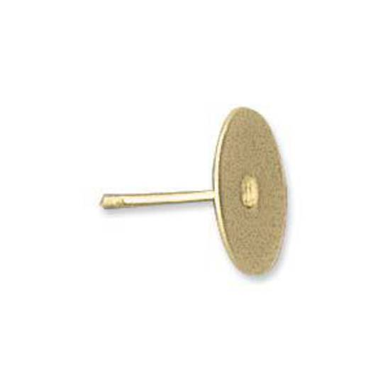 Glue Post Stud - 10mm gold