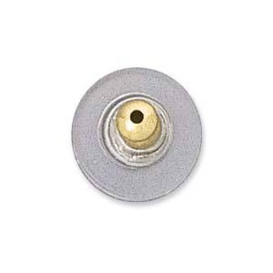 Stabil Clutch Earring Back - clear/gold (nickel free)