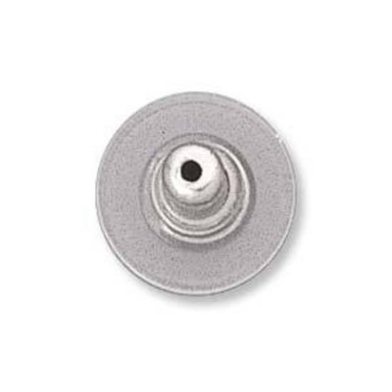 Stabil Clutch Earring Back - clear/silver (nickel free)