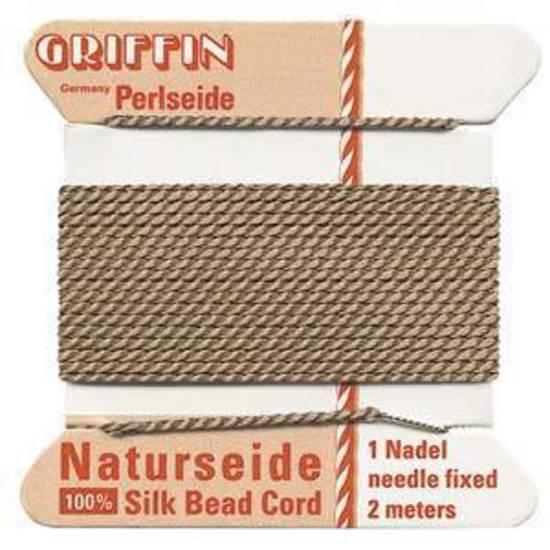 Griffin Silk Cord - Beige - Size 2 (0.45mm)