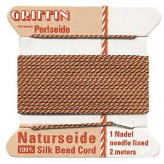 Griffin Silk Cord - Cornelian - Size 0 (0.3mm)