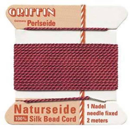 Griffin Silk Cord - Garnet - Size 2 (0.45mm)